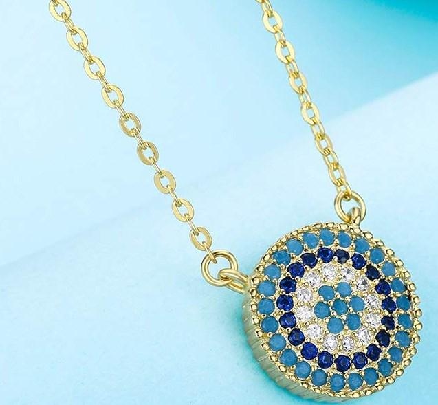 df9014ce55d5 Bello collar con colgante de ojo turco baratos del 2018 • 2019