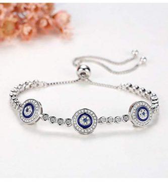 originales pulsera de plata ojo turco